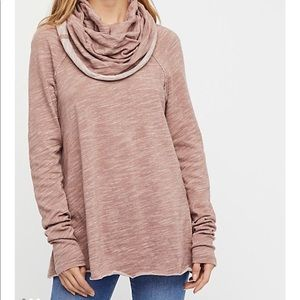 Free People Beach cowl neck cocoon